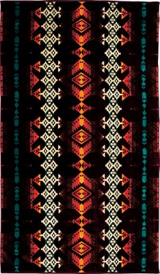 Entertainment Thirsty cotton velour is the ideal canvas for distinct patterns inspired by Native American artwork. The fabric of this Pendleton Jacquard Towel is sheared on one side for luxurious softness and looped on the other for superior absorption. 100% cotton. Imported. 70L x 40W. Available: Jerome, Chief Joseph, Journey West, Canyonlands, Spider Rock, Mountain Majesty. Type: Bath Towels. - $45.99