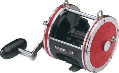 Fishing Penns Special Senator Conventional Saltwater Reel combines all the toughness of the original Senator with higher gear ratios for even more power and speed. Features two shielded stainless steel ball bearings, precision-machined stainless steel pinion gear and high-strength marine-grade bronze main gear. HT-100 drag washers provide smooth drag under heavy loads. Multidisc star-drag system and heavy-duty clicker help you know a fish is on the line so you can set the hook. Machined- and anodized-aluminum spool and lightweight sideplates with stainless steel reinforcement rings improve rigidity and help prevent frame flex. Convertible power handle. 113H2SP has a brass spool for wireline trolling. Color: Stainless Steel. Type: Saltwater Conventional Reels. - $99.99