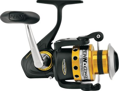 Fishing Experience legendary Penn reel performance and you'll never go back to lesser fishing instruments. 10 stainless steel ball bearings and one roller bearing make the Conquer among the smoothest-operating anywhere. Infinite anti-reverse results in hooksets with fish-smacking authority. Its patented, one-piece, machined-aluminum gear box provides a rugged housing without added bulk or weight. The Easy Access System is the most innovative maintenance feature ever introduced. Simply remove a single screw and the rear hatch opens to provide full access to components. The Eternal Alloy spool resists scratches and dents. The Superline Spool needs no backing for superlines. HT-100 drag washers put you in complete control of the battle. - $139.88