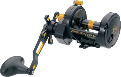 Fishing Its Live Spindle design eliminates erratic drag while improving cranking power and castability. Seven sealed stainless steel ball bearings provide smooth casts and retrieves. Anti-reverse braking offers optimal hooksetting power. Stainless steel main and pinion gears. Lightweight, forged-aluminum spool. Adjustable, three-position bait clicker. 40-size reel has switchblade harness lugs. Line capacity rings. - $349.88