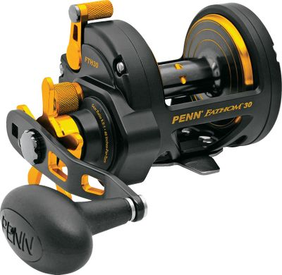 Fishing Delivers heavy-duty durability under trophy-weight stress and long-range castability for versatile big-water performance. Also offers a faster gear ratio than the Fathom Levelwind reel. The Versa-Drag system with HT-100 washers lets you rearrange washers for species-specific drag settings. Shielded stainless steel bearings and Live Spindle Design with free-floating spool for greater casting distance. Full-metal body and sideplates. Machine-cut, marine-grade bronze main gear and stainless steel pinion. Instant anti-reverse. Adjustable centrifugal braking system. Color: Stainless Steel. Type: Saltwater Conventional Reels. - $199.99