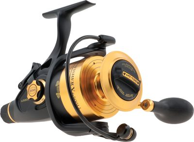 Fishing Loaded with fish-fighting features, the Spinfisher SSV easily handles drag-scorching, hard-fighting fish. A total of six seals are used to create its watertight design which keeps critical components from corroding. Unique Slammer drag gives you extreme range and endless adjustment. Highly visible line-capacity rings provide quick reference of remaining line. A truly sealed drag system with a total of three HT-100 drag washers (one on the top of the spool, two underneath the spool), which are greased for smoothness and longevity. Extreme range, endless adjustment and a large-diameter drag knob so you can easily crank down to maximum drag. Durable all-metal construction. Available:Spinning Live Liner or Bail-Less. Type: Spinning Reels. - $139.99
