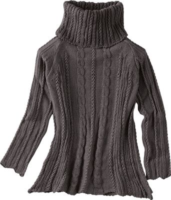 Provides a beautiful drape for more stylish, cable-knit warmth than your average sweater. Crafted of luxurious 100% merino wool. Hand wash or dry-clean. Imported.Sizes: S-XL.Colors: Mole Grey, Beige. - $59.88
