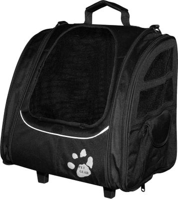 Hunting Why leave your little canine companion behind? These handy rolling, backpack-style totes are ideal for travel in a car and meet most airline travel regulations. Two built-in tethers keep your dog secured until you are ready to let him out. Sides can be expanded to add 3 of space. Two storage pockets keep treats and accessories easily accessible. A telescoping handle makes it easy to pull through airports and stores out of the way when not in use. Includes a removable fleece-top pad for easy washing. For pets up to 20 lbs. Imported. Dimensions:16L x 12W x 15H. Colors: Black, Copper, Lavender, Ocean Blue, Pink, Sage. Color: Copper. Type: Pet Carriers. - $69.99