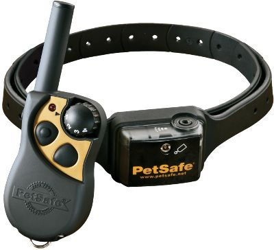 Entertainment With the press of a button on the transmitter, the Remote Spray Trainer can help you train. This collar releases a burst of lemon-scented spray towards your dog's snout to discourage bad behavior or for basic obedience training. The collar has a 300-yard range and four spray levels. Rechargeable, waterproof transmitter and receiver. Collar adjusts to fit necks up to 28 . Includes one refill. - $149.99