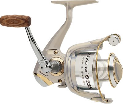 Fishing With a lightweight graphite body and rotor and six stainless steel ball bearings, the GX-7 blends strength and smoothness. An instant anti-reverse, one-way clutch bearing gives you instant hooksets. Every reel has a Sure-Click Bail , a smooth front drag system with stainless steel and oiled felt washers and audible drag adjustment and a large diameter titanium bearing line roller that helps prevent line twist. The anodized aluminum spool and titanium spool lip provided added line protection. And these reels also have a corrosion-resistant stainless steel main shaft and components and a machined aluminum handle with rosewood knob. Spare aluminum spool included. - $24.88