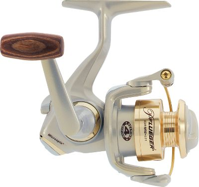Fishing 4410 Spinning - An ultralight reel that makes fighting the smallest fish seem like youre reeling in a monster. Four ball bearings, an aluminum spool and titanium line roller ensure years of use for such a small investment. Spare aluminum spool included. Left/right retrieve with rosewood knob. Weight (oz.): 6. Type: Spinning Reels. Reel Model: 4410. Line Capacity (yds./lb. test): 100/4. Gear Ratio: 5.2:1. Bearings: 4. Reel 4410b. - $24.99