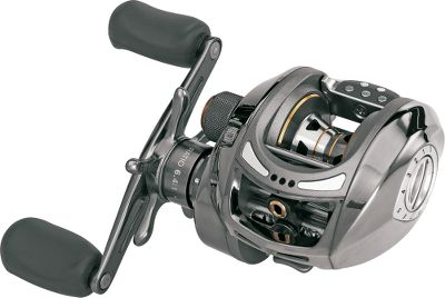 Fishing Durability and toughness, that's what you get with the Patriarch casting reel. What else could you expect in a reel that's been coated in titanium Its rugged nature will take on all types of freshwater fish and even some light saltwater varieties. Plus, you can choose from two gear ratios, one slightly higher for faster cranking. Lightweight aluminum frame and sideplates. Neoprene reel bag included. - $99.88