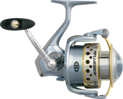 Fishing Unleash long-distance casts using a spinning reel that's built to shoot line with ease. Line comes off Pflueger's large-arbor spool in larger and fewer coils, ensuring less friction through rod guides. Seven stainless steel ball bearings and one-way clutch instant anti-reverse bearing guarantee ultrasmooth performance and solid hooksets. The aluminum frame and graphite rotor construction contributes strength, while keeping weight to a minimum. Sealed carbon-fiber drag system smoothly tames feisty fish. Braid-ready, double-anodized aluminum spool. Sure-Click bail. Solid-aluminum bail wire. Spare aluminum spool. Color: Stainless Steel. Type: Spinning Reels. - $79.99