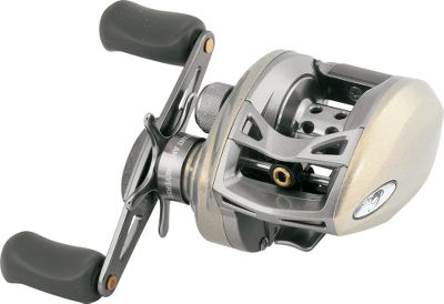 Fishing Outcast the competition. Featuring a six-pin, self-contained centrifugal brake system (CBS), this reel delivers steady, consistent line control and prevents backlashes while casting. Double-shielded stainless steel ball bearings offer smoother casting and retrieves. One-way clutch instant anti-reverse bearing provides outstanding hooksetting power. The ultrastrong aluminum frame and graphite sideplate safeguard gear alignment. Lightweight, ported anodized-aluminum spool. Aluminum handle. Soft-touch knobs and thumb bar spool release. Titanium line guide. - $49.88