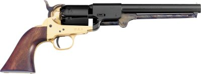 Based on the original Colt Model 1851, which was primarily used by the Confederacy, the Pietta Griswold and Gunnison .36 Caliber Black Powder six-shot, single-action Revolver sports a dragoon-style round barrel with six-groove rifling. One-piece walnut grip, blued barrel and cylinder, brass frame and back strap. Easily removable, replaceable cylinders make reloading extremely fast. Barrel length: 7.5. OAL: 13.25. Wt: 2.438 lbs. Color: Black. Type: Revolver. - $169.99