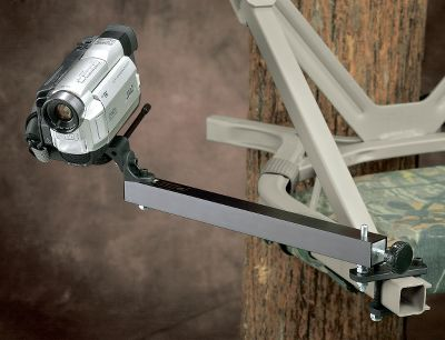 Hunting Specifically for self-climbing tree stands. They mount to a square frame using two bolts, and they have a free-swinging and a pan/tilt head. No drilling is required.(Camera not included.) Type: Camera Arms. - $29.88