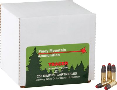 Hunting Put a fun new twist on plinking and target shooting with tracer ammunition. This noncorrosive, high-velocity .22 longrifle ammunition by Piney Mountain Ammunition produces a brightred tracer trail of approximately 150 yards. Since the trail is visible day or night, it provides a clear view of the bullet's trajectory, flight path and impact point. It also makes great practice ammo as it allows you to track the exact path of the bullet. This quality ammunition will not damage your firearm. Made in USA. With each 250-round lot you purchase, you receive a NEW Dry-Storage Box a $14.99 value.Available: 250 Rounds, one Dry Box.500 Rounds, two Dry Boxes. - $99.99