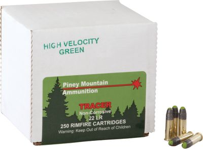 Put a fun twist on plinking and target shooting with ammo that provides a clear view of your bullets path day or night. See trajectory, path and impact point. High-velocity green tracers for visibility over 150 yards. Noncorrosive. Wont damage firearms. Use in rifles only. With every 250-round purchase, receive a new Dry-Storage Box. Made in USA. Per 250. - $99.99