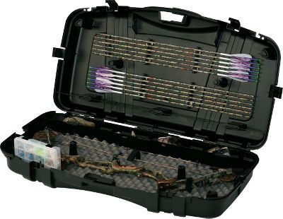 "Hunting The patented PillarLock system incorporated into this Protector Deluxe lockable bow case gives your equipment maximum protection. Has a separate area for arrow storage and includes a ProLatch storage box. Durable plastic construction with an integrated carry handle. Dimensions: 43"" x 22-1/2"" x 9"". Type: Bow Cases. - $44.88"