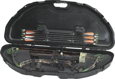 Hunting Uniquely designed to accommodate today's parallel-limb bows, this case will stand up to years of punishing travel and abuse. The thick-walled construction, high-density foam interior and the exclusive PillarLock System give it the durability to withstand hard impacts without harming your bow and accessories. The case is lockable and exceeds airline standards for quality. Handle is molded for a comfortable grip. Arrow storage inside the lid. Dimensions: 43-1/4 L x 19 W x 6-3/4 H. Color: Black. Color: Black. - $52.99