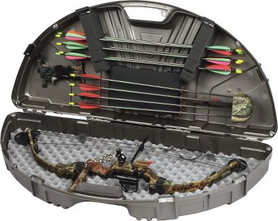 Hunting The high-tech Pro 44 Series sports a compact size perfect for today's shorter bows, yet has the capacity to stow a fully loaded quiver and plenty of other accessories. Rigid, high-tech body lines and steel hinge pins enhance strength. Internal tie-downs secure bow as well as a release and armguard. The arrow retainers stow a dozen arrows. Four recessed, snap-over latches combine with three padlock tabs for positive security. Includes an accessory box with removable broadhead retainer and broadhead wrench. Dimensions: 44-1/2 L x 20 W x 8-3/4 H. Color: Black. Type: Bow Cases. - $94.99