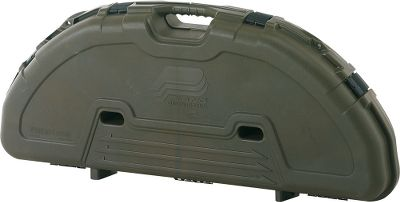 Hunting Uniquely designed to accommodate today's parallel-limb bows, this case will stand up to years of punishing travel and abuse. The thick-walled construction, high-density foam interior and the exclusive PillarLock System give it the durability to withstand hard impacts without harming your bow and accessories. The case is lockable and exceeds airline standards for quality. Handle is molded for a comfortable grip. Arrow storage inside the lid. Dimensions: 43-1/4 L x 19 W x 6-3/4 H. Color: Plano Camo. Color: Plano Camo. - $62.99