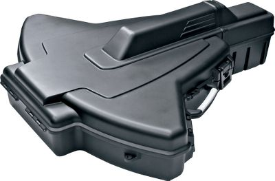 Hunting The sleek, high-impact plastic case provides safe, secure protection for virtually all sizes and configurations of crossbows, from recurve to reverse limb. The patented PillarLock system and customizable high-density foam padding protect the stocks, limbs and cables from being crushed. Multiple tie-downs and straps fit crossbows of all sizes and shapes, holding them securely in place. Heavy-duty case hinges at the front and latches on both sides of the tail for easy crossbow placement, removal and closing. Built-in storage area in the lid holds bolts and a quiver. Two handles and a removable shoulder strap for convenient carry. Case is easily adjusted to allow multiple length stocks. 38.75W x 33.125-44.75L x 13.126H Color: Black. Type: Crossbow Cases. - $129.99