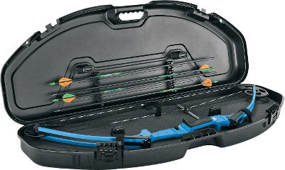Hunting An ultracompact bow case designed to safely store and transport youth-sized bows. It features tie-down straps, arrow holders, dense foam padding and Planos patented crushproof PillarLock system. Exterior dimensions: 41L x 15W x 4.18H. Color: Black. Age Group: Kids. Type: Bow Cases. - $52.99