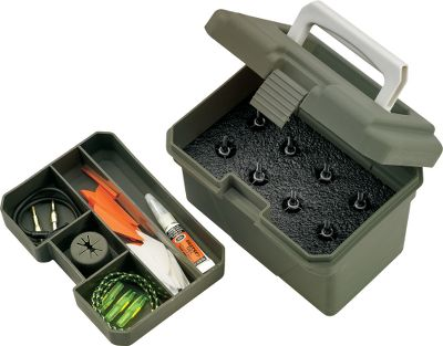 Hunting The Broadhead Box holds fixed-blade and expandable broadheads. A high-density foam insert ensures all broadheads are protected, and a lift-out tray provides room for nocks, fletchings and field points. Dimensions: 6-3/4 L x 5 W x 5 H. Color: Green. Type: Broadhead Boxes. - $14.99