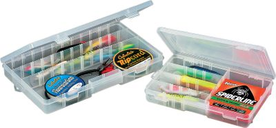 Fishing Time to organize or upgrade your tackle bags? Then its time to load up on these top-quality storage boxes from Plano. Interior compartments adjust in size to accommodate a range of lures. Dimensions: 9L x 14W x 2''D. - $9.99