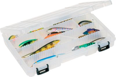 Fishing These boxes include Versi-Slant angled dividers along with standard dividers for extra storage space. All are interchangeable with all Plano hard and soft tackle systems. A secure double-latch front keeps them closed. Available: 3770 12 angled and 24 straight dividers 14L x 9-1/8W x 2H 3771 12 angled and 24 straight dividers 14L x 9-1/8W x 1-3/8H 3670 8 angled and 12 straight dividers 11L x 7-1/4W x 1-3/4H Type: Utility Boxes. - $9.99