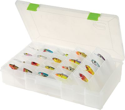 "Fishing The FlipSider system allows easy access to individual baits and can hold more because of its unique design. Individual compartments in each box keep baits separate.Available:3734 - 14""Lx 9-1/10""W x 3-1/10""H - Lures up to 4.5""3744 - 14""Lx 9-1/10""W x 4-6/10""H - Lures up to 6.5"" Type: Utility Boxes. 3744. - $20.88"