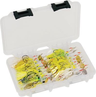 Fishing Crankbait organizers in standard 3600 and 3700 sizes built to customize any tackle system. Patented V-groove tray keeps hooks tucked away. Tackle not included. Available: 3707-07(14 x 9 x 1-7/8) - Up to 22 Medium Crankbaits 3707-08(14 x 9 x 1-7/8) - Up to 20 Large Crankbaits 3607-06(10-3/4 x 7-1/4 x 1-3/4) - Up to 20 Small Crankbaits 3607-07(10-3/4 x 7-1/4 x 1-3/4) - Up to 16 Medium Crankbaits Type: Box. - $13.99