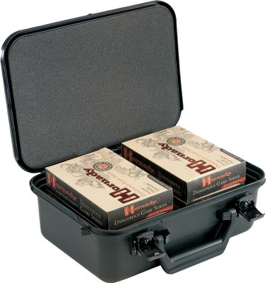 Hunting This rugged lockable case will keep your ammo protectedthrough your travels. High-impactpolymer shell stands up to rough handling, and the dense foam interior compresses around ammo boxes to eliminate shifting and absorbs shock. Dual key-locking latches. Carry handle. Measures: 12-3/4 L x 9-1/4 W x 5-1/4 D. Type: Bulk Ammunition. - $29.88