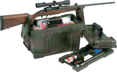 "Entertainment Store all your gun-cleaning supplies in one convenient place. And when it's time to get to work, this case securely supports your rifle or shotgun with a staggered yoke system during cleaning sessions. Two spacious lift-out trays store all your supplies and make it easy to lay out your cleaning table as efficiently as possible. It has a comfortable, overmolded handle for easy carrying. Dimensions: 18""L x 9""W x 13-1/2"". Type: Vises. Type: Case. - $26.88"