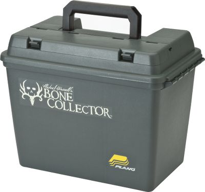 Durable molded box with Michael Waddell s Bone Collector logo holds everything in its place, with two removable dividers and a lift-out tray. Additional storage area features exterior access from the lid, which locks down securely with easy-to-use latches. Dimensions: 17 L x 10.38 W x 13 H. - $31.99