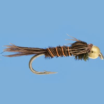 Flyfishing This nymph pattern is widely popular because of its versatility. A good all-around fly, it mimics mayfly and stonefly nymphs. The tungsten beadhead adds extra attraction and weight to the fly. Per 3. Sizes: 12, 14, 16. Type: Wet Flies. - $4.59