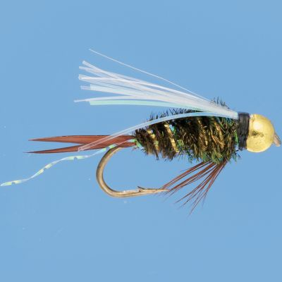 Flyfishing This fly has several qualities that will make fish bite. The peacock herl body and white goose biot wings drive fish wild. A little flash is tied into the body for eye-catching appeal, while the tungsten beadhead gives this prince nymph added weight and extra flash. Perfect for trout in deep water. Per 3. Sizes: 12, 14, 16. Color: Peacock. Type: Wet Flies. - $5.49