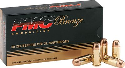 Guns and Military PMC's precision FMJ bullets provide smooth, reliable feeding in all types of semiautomatic handguns. Buy in bulk and receive quality PMC Bronze line ammunition at significantly lower prices than comparable brands. Color: Bronze. - $114.99