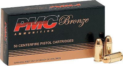 PMC Bronze Line ammo passes rigorous inspection, ensuring outstanding uniformity and reliability. 90-gr. FMJ provides smooth, reliable feeding in semiautomatic handguns. Available: Per 300 (one dry box) Per 600 (one dry box) Per 1,200 (two dry boxes) - $119.99