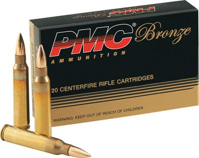 Hunting PMC has established a reputation for offering accurate, dependable, high-performance ammunition at prices that wont break the bank. This is new factory ammunition, not reloads or military surplus. Per 20; .50 BMG per 10. Color: Bronze. Type: Centerfire Rifle Ammunition. - $7.19