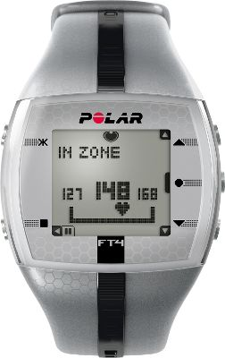 Fitness Packed with motivating features to keep you on track, the FT4F is a sure-fire ticket to better health and wellness. It displays your heart rate as a percentage of your maximum heart rate, beats per minute and within a graphical target-zone indicator so you see results as they happen. Polar OwnCal shows your energy expenditure as well as your accumulated calories burned over several exercise sessions perfect for achieving both short- and long-term goals. Visual and audible alarm for when you exceed or dip below your target zone. Watch includes comfortable transmitter with a coded heart-rate transmission that avoids crosstalk. Time display with alarm and snooze. Water-resistant to 30 meters. Case diameter: 38mm. Color: Silver/Black. Color: Silver/Black. Gender: Male. Age Group: Adult. - $99.99