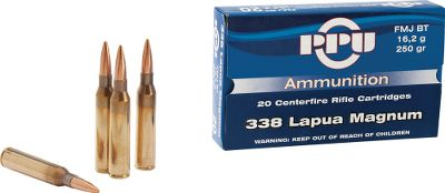 Hunting Made to exacting tolerances with high-quality raw materials and carefully chosen components, PPU ammo offers world-class value and uniform quality for high-volume shooters. Each load was developed with long-term research by ballistics experts and input from hunters for dependable performance in the field and at the range. Noncorrosive, boxer-primed, 100% reloadable brass cases. Available: Per 100, Per 200. - $299.99