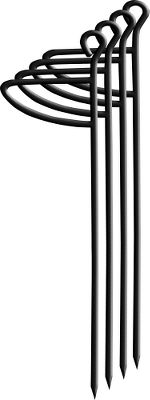 Hunting Made of high-grade steel. 14 long with a 3 wide foot press. Top loop to aid in removal and sharp point to break through hard ground. Per four. Type: Ground Blind Stakes. - $13.88