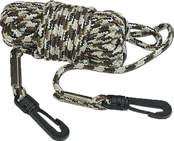 Hunting 30 feet of 3/8 nylon camo rope for hoisting your bow and other gear into treestands. Snap hook at each end. Imported. Color: Camo. - $3.99
