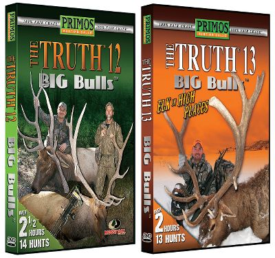 Hunting Join Team Primos for some awesome elk action in the high country. Available:Big Bulls 13 and 14 DVD Combo Big Bulls 13Sit back and enjoy the sights, sounds and emotion of Rocky Mountain elk hunting with Team Primos. 13 hunts. 150 min. Big Bulls 14A full two hours and 11 hunts for trophy-class, 100% fair-chase bulls. Watch as Team Primos gets up close and personal with some truly monster bulls. Includes eight bowhunts and three gun hunts. Big Bulls 12 and 13 DVD Combo Big Bulls 12High-country elk are an enigma. Different variables can affect your hunt. See how the Primos team deals with the rut, weather and edgy elk from early to late season in the Rocky Mountain West. 14 hunts. 150 minutes. Big Bulls 13Sit back and enjoy the sights, sounds and emotion of Rocky Mountain elk hunting with Team Primos. 13 hunts. 150 minutes. Big Bulls 11 and 12 DVD Combo Big Bulls 11Early and late season for big bulls in the Rockies. Join the Primos team for 17 action-packed hunts. If you like listening to big bulls in all their glory, this video will not disappoint. 150 minutes. Big Bulls 12High-country elk are an enigma. Different variables can affect your hunt. See how the Primos team deals with the rut, weather and edgy elk from early to late season in the Rocky Mountain West. 14 hunts. 150 minutes. - $23.88