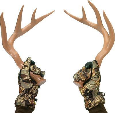 Hunting The high-tech polymer in these horns delivers the same consistency and structure as real antlers. The 14 contact points reproduce buck-fighting sounds from light sparing to an extra-loud fight. Extended handles. - $18.88