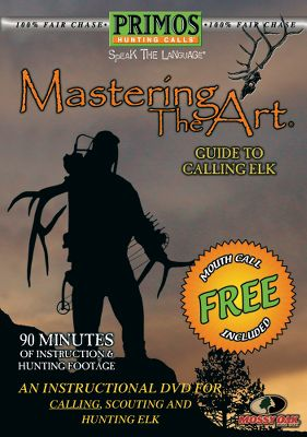 Hunting Mastering the Art: Elk covers everything you need to know about mouth calls, bite and blow calls, open reed calls, estrous cow sounds and bugles. Includes single-reed mouth call. 90 minutes. - $9.34