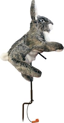 Hunting A true-to-life rabbit decoy with sure-fire mimicry and the versatility to create different postures. The hands-free, removable, three-speed motion generator gives it a wide range of lifelike hopping and quivering motions. The two-position stake supports a horizontal-action or upright-posture setup, and the fur rabbit features flexible wiring in legs and ears for maximum versatility in posturing. Requires two AA batteries (not included). - $19.88