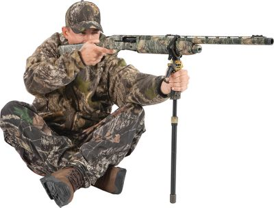 "Steady your aim on that trophy of a lifetime and adjust the height of your rest with one hand. The Trigger Stick is lightweight and has a trigger-release height-adjustment system for easy operation with one hand. It comes with a detachable Y-yoke for use as a gun rest, but is threaded to fit 1/4-20 and 3/8-16 optical gear mounts as well. Available: Two-section monopod Adjustable 20-30 Three-section monopod Adjustable 29-62 Two-section bipod Adjustable 23-32 Two-section tall bipod Adjustable 36-1/2-62 Two-section tall tripod Adjustable 36-1/2-61 Type: Shooting Sticks. Type: Shooting Sticks. Height 29""-62"". - $31.88"
