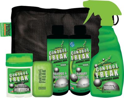 Hunting Primos Control Freak is a family of dual-action, scent-control products that control bacteria-caused odors, like body odor, and nonbacterial odors including smoke and food odors. They work on contact to reduce odors on clothing and equipment, and keep them away for up to 24 hours.Complete Control Kit includes: Antiperspirant Deodorant, Bar Soap, 12-oz. Laundry Detergent, 12-oz. Shampoo and Conditioner, 16-oz. Scent-Control Spray and Mesh Bag. Type: Scent Control. - $29.99