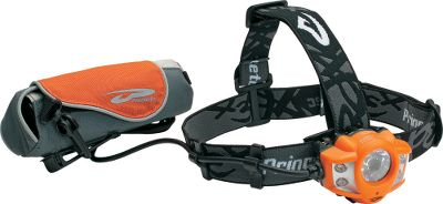 Camp and Hike This headlamp is a great choice for cold-weather activities. For optimal performance in the cold, keep the remote battery-storage compartment close to your body to keep the batteries warm. The remote battery pack also removes weight from your head, increasing comfort. It features one Maxbright LED and four ultrabright LEDs. Four modes of operation offer run times from 200 hours on low to 2-1/2 hours on high. Adjustable elastic strap provides a custom fit. Runs on eight AA batteries (included) or lithium (not included). Waterproof to 1 meter. Weight: 14.7 oz. with batteries. - $99.99