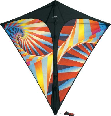 Camp and Hike Kites are for the young and the young at heart. This is a modern twist on a classic kite. It stretches a full 37 when unfurled, but folds up into a tidy little package barely a foot long. Pack it along for outdoor fun. Its brilliant, fractal-based geometric patterns are dye-sublimated onto colorfast ripstop polyester. Its a flying mosaic masterpiece. Comes ready to fly with a colorful two-part matching tail, a ripstop polyester sail, 200 ft. of 20-lb. Dacron flying line and a winder. Imported.Colors: Red Haze, Purple Haze (not shown). - $29.88