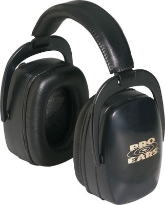 Pro Ears Ultra 33 Passive Muffs offer maximum protection against harmful noises when exposed to firearms as well as any loud noise levels from engines, machines, music, work or play. The exclusive ProForm Leather Ear Seals and padded, adjustable headband make them comfortable enough to wear all day for trap or target shooting. Only Pro Ears are made with proprietary Dielectric construction that uses special noise-dampening materials that are resistant to electricity while absorbing damaging frequencies. These highly rated muffs help protect hearing from damaging sounds and vibrations. They feature the industrys highest Noise Reduction Rating (NRR) of 33dB. One-year warranty. Made in USA. Weight: 12 oz. Color: Black. Size: 33. Color: Black. Gender: Male. Age Group: Adult. Material: Leather. Type: Hearing Protection. - $31.88